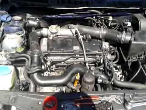 VW bora AJM swap ARL engine first start - YouTube