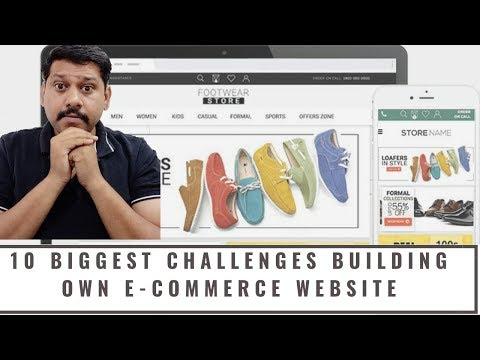 10 Biggest challenges you may face building your own e commerce site. How to create your website - 동영상
