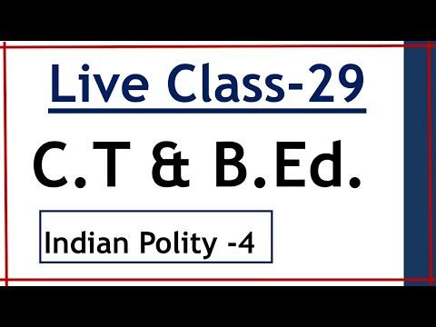 C.T / B.Ed  - Live Class-29  (2020)
