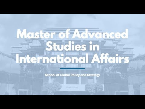 Master of Advanced Studies in International Affairs