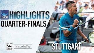 Highlights: Kyrgios Sets Federer Blockbuster In Stuttgart 2018