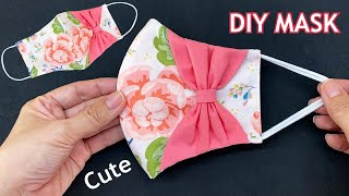 Very Cute Diy Breathable Face Mask Easy Pattern Sewing Tutorial With Bow How to Make Mask Ideas
