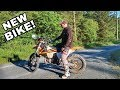 Learning How To Ride A 2 Stroke Dirt Bike EP1 - New Dirt Bike First Ride