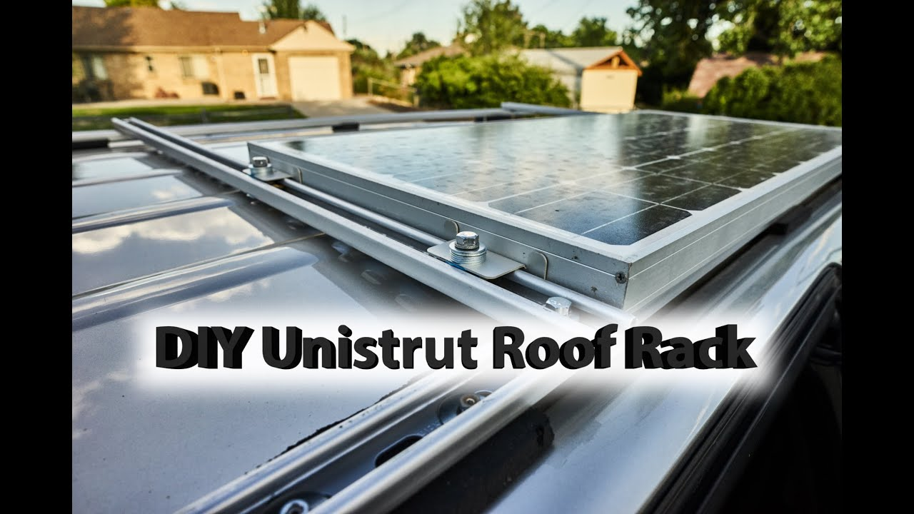 DIY Roof Rack with Solar Panel Honda Odyssey - YouTube