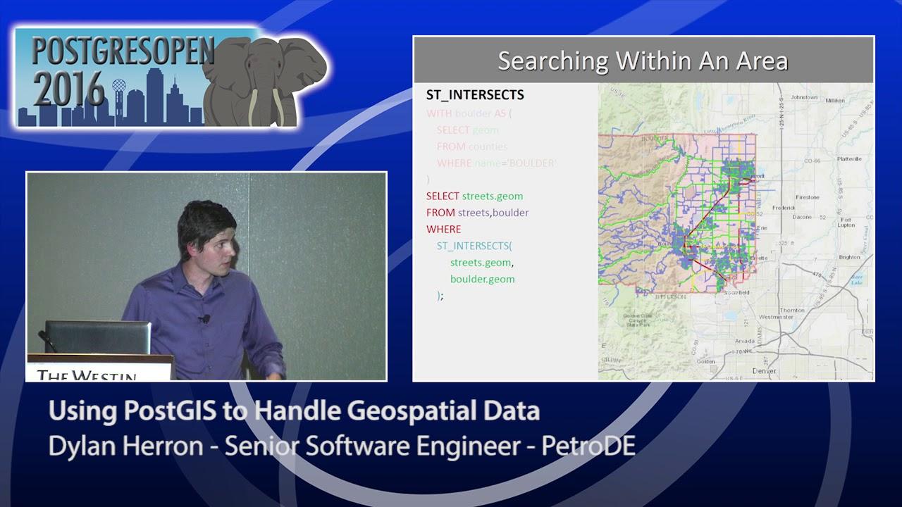 Using PostGIS to Handle Geospatial Data - Dylan Herron