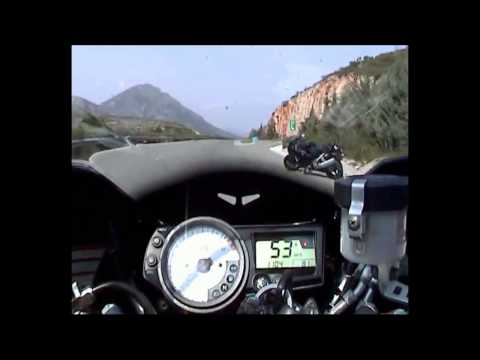 High Speed almost crash bike