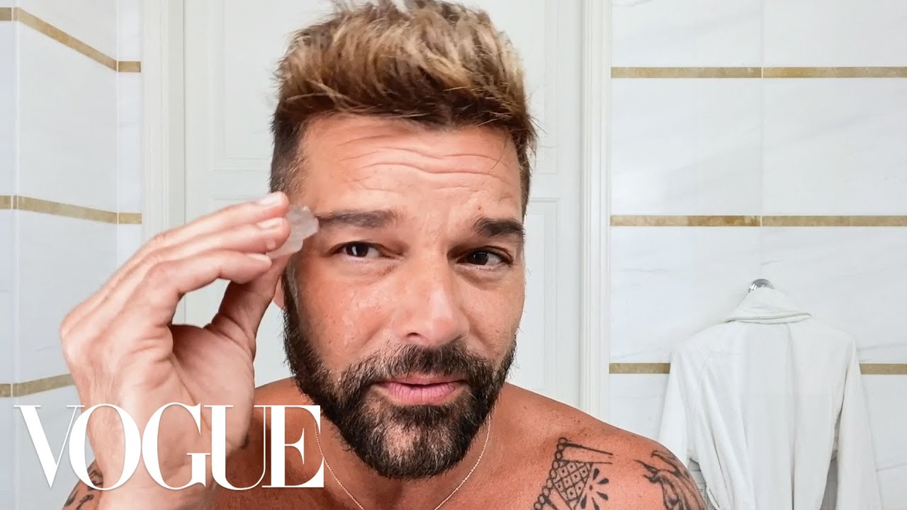 Ricky Martin's Daily Skin-Care and Wellness Routine | Beauty Secrets | Vogue