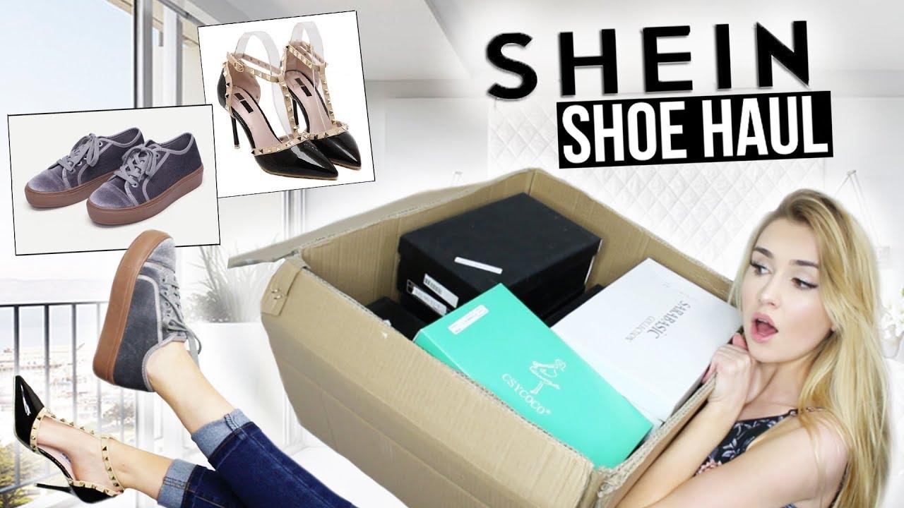 bb5f73c5ec HUGE SHEIN TRY-ON SHOE HAUL | Worth the money?! - YouTube