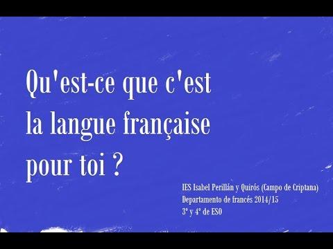 Qu 39 est ce que c 39 est la langue fran aise pour toi ies isabel peril - Qu est ce qu une terrasse ...