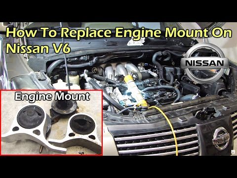 How To Replace Right Engine Mount on Nissan 3.5L V6 Engine