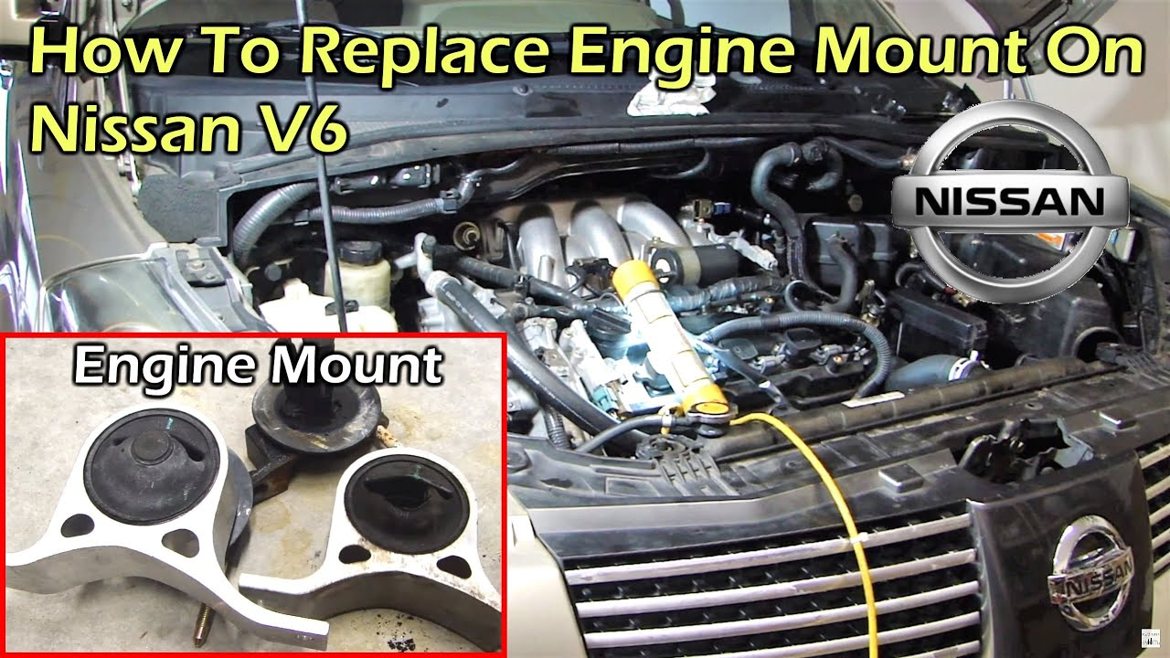 nissan 3 5 v6 right engine mount replacement complete guide [ 1280 x 720 Pixel ]