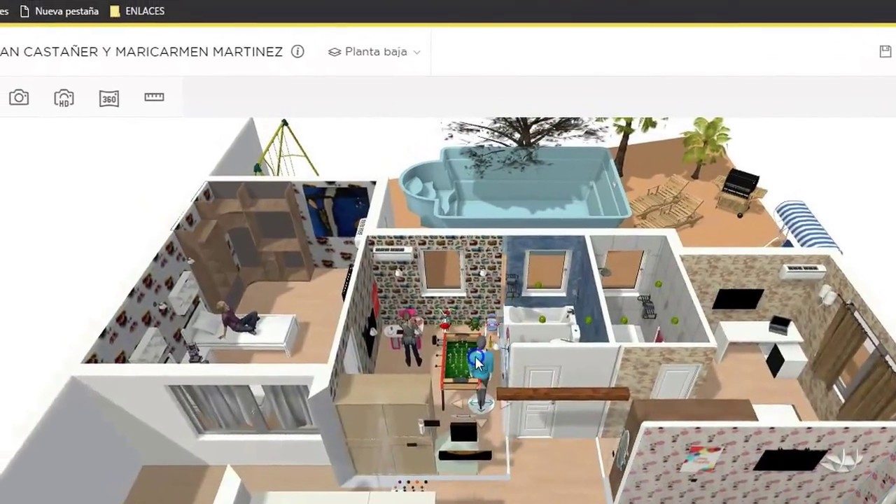 simulaci n 3d reforma homebyme youtube. Black Bedroom Furniture Sets. Home Design Ideas