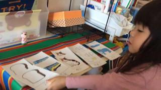 2歳9ヶ月。お家で楽しくお勉強。 お兄ちゃんが使っていたおさがり教材(...