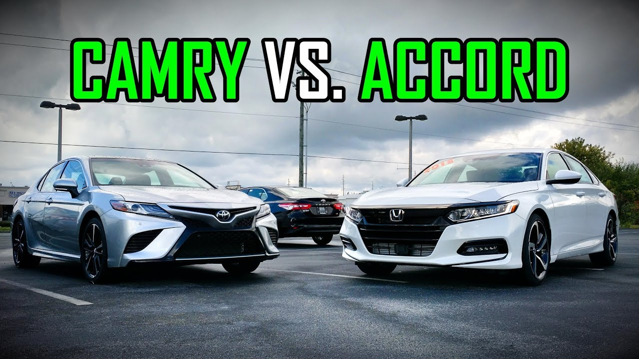 2018 Honda Accord Sport Vs Toyota Camry Se Faceoff Comparison