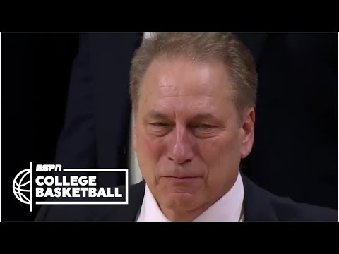Tom Izzo emotional saying goodbye to players on Michigan State senior night | College Basketball