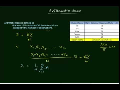 Arithmetic Mean (in Hindi)
