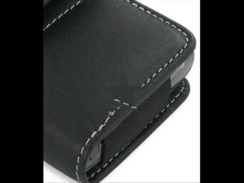 Leather Case for Samsung Epix SGH-i907 - Horizontal Pouch Type (Black)