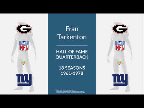 Fran Tarkenton Hall of Fame Football Quarterback