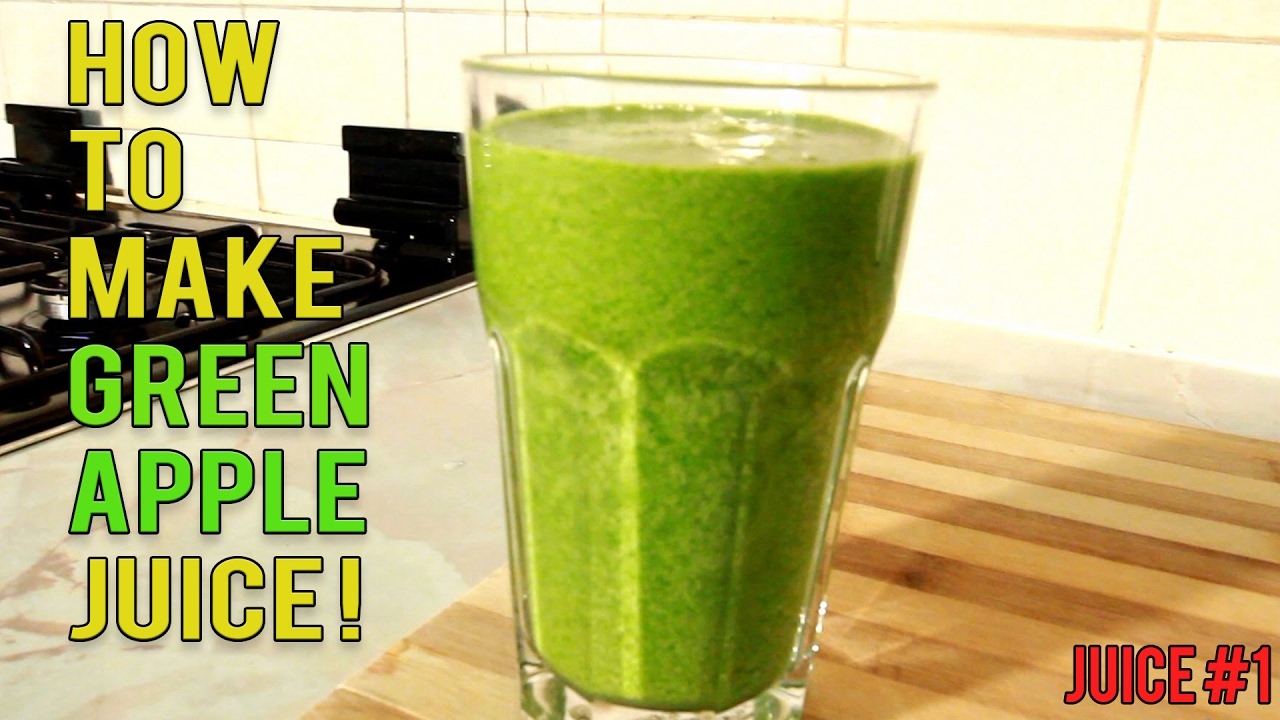 How to make green apple juice ! youtube