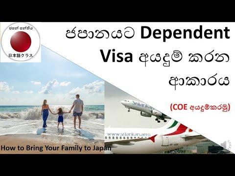 ජපන් Dependent Visa – How To Apply Japan Dependent Visa |Japan Panthiya|