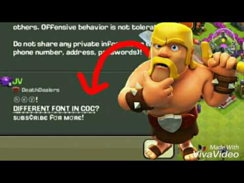 Different font in clash of clans?