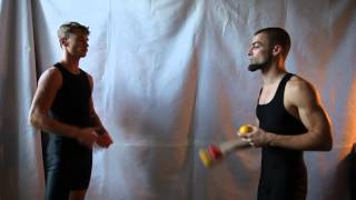#31. Перекидки 6М (видео уроки по жонглированию от ПГ и МК)