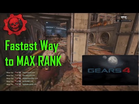GoW 4 BEST Game Mode [the fastest way] to MAX XP, RANK & STORE CREDIT