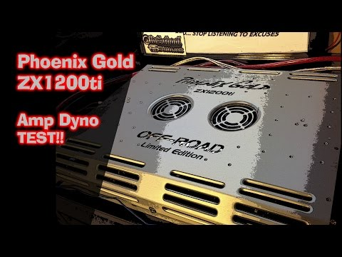Phoenix Gold ZX1200ti Rare Amp on Dyno AD-1