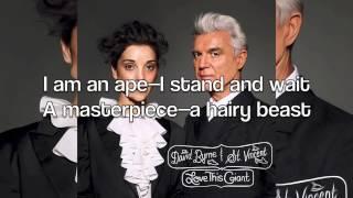 "David Byrne & St. Vincent - ""I Am An Ape"" (Lyrics)"