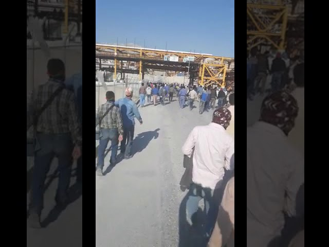 Iran - Grève dans la raffinerie de pétrole et de gaz de Sud Pars