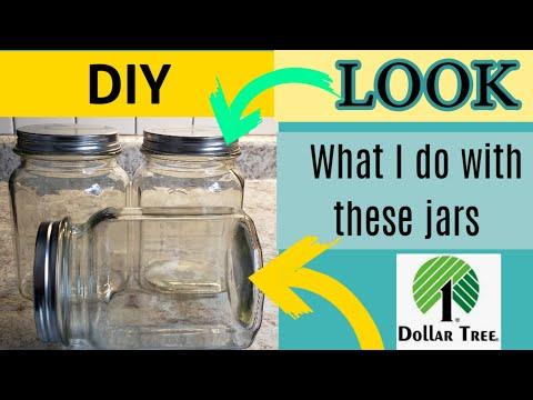 Dollar Store DIY ~Canister set~Farmhouse decor.