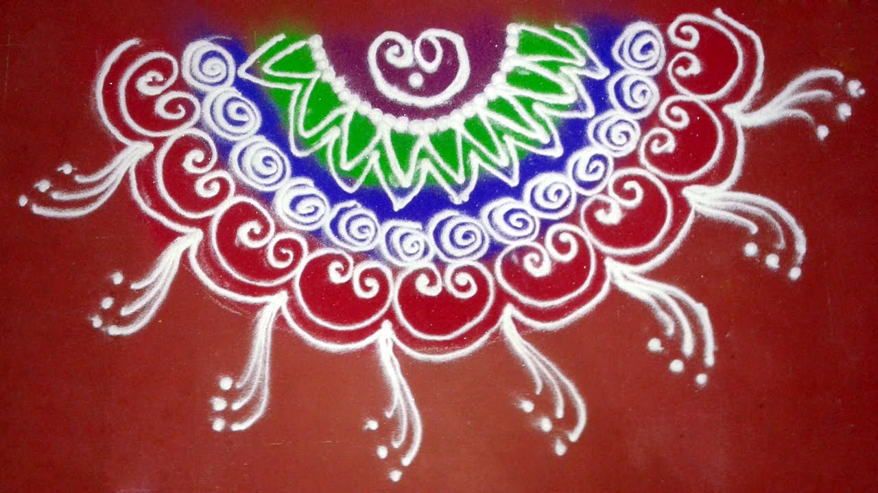 Attractive Sanskar Bharti half Circle Rangoli Design - YouTube UV79