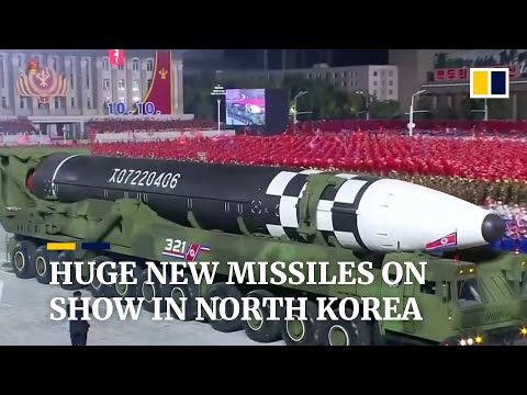 North Korea's new 'monster' intercontinental ballistic missiles on show at military parade
