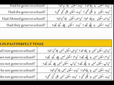 Lesson-30 Urdu Sentences with Past Perfect Tense