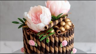 How To Make A Wafer Border Cake- Rosie's Dessert Spot