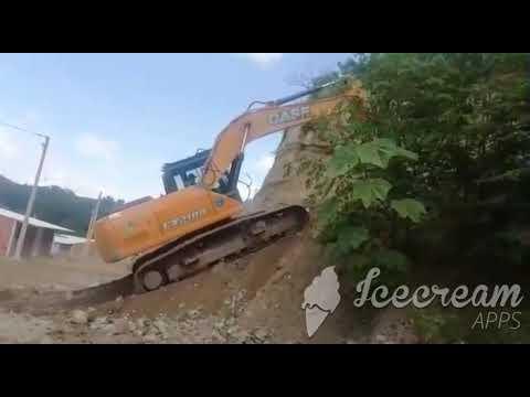 Bajar Y Subir Excavadora A Terraza