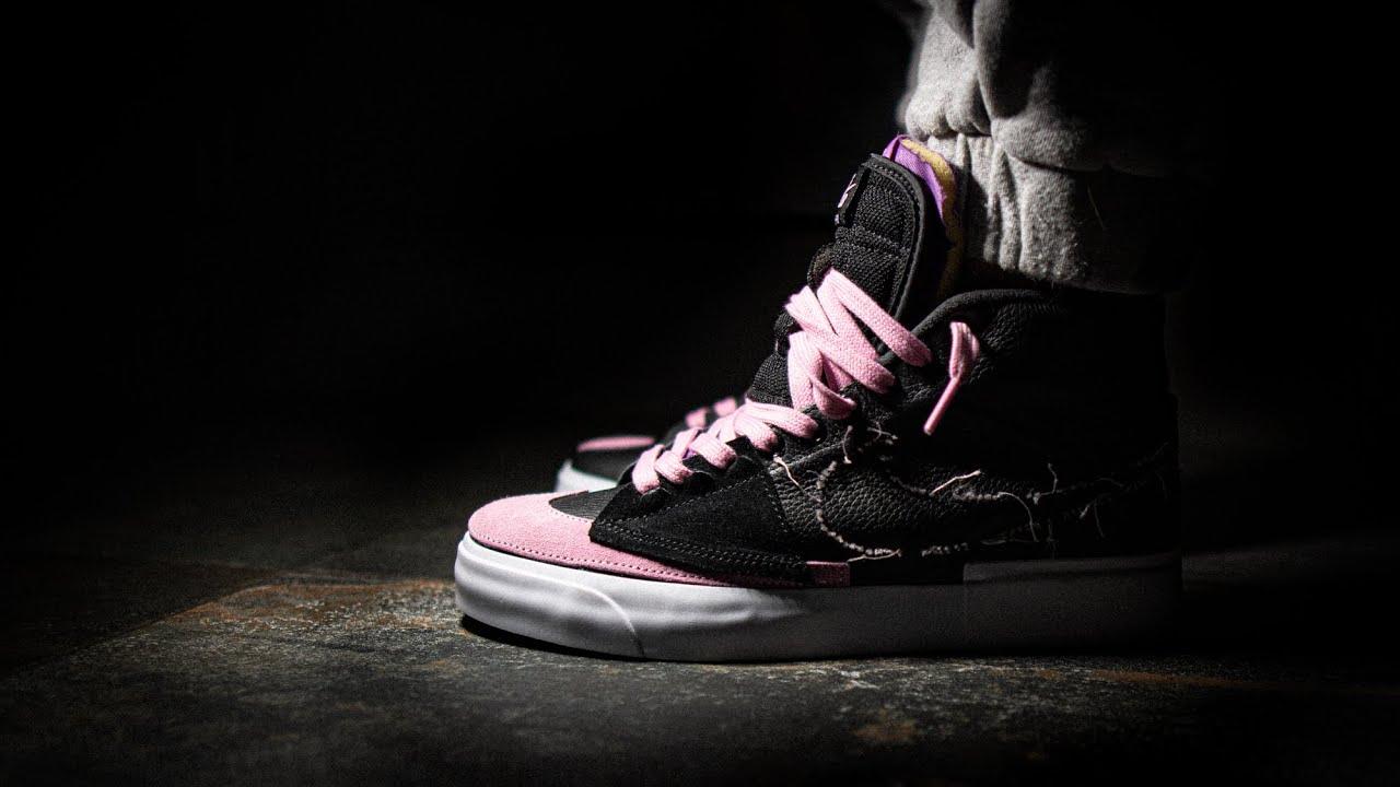 THE ONE - Nike SB Zoom Blazer Mid Edge L Black Pink Rise Sneaker Unboxing