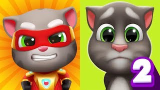 My Talking Tom 2 vs Talking Tom Hero Dash Android Gameplay #6