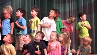 "Christ Lutheran Preschool Kids Sing ""America"""
