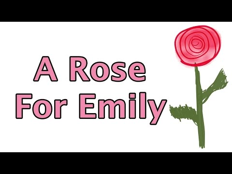"""a rose for emily by william A rose for emily, a short story by william faulkner."