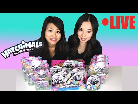 🔴 LIVE: NEW Hatchimals CollEGGtibles opening surprise egg toys for kids Princess ToysReview IRL