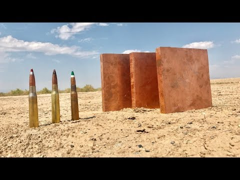 50 CAL VS COPPER PLATES - how strong is copper?