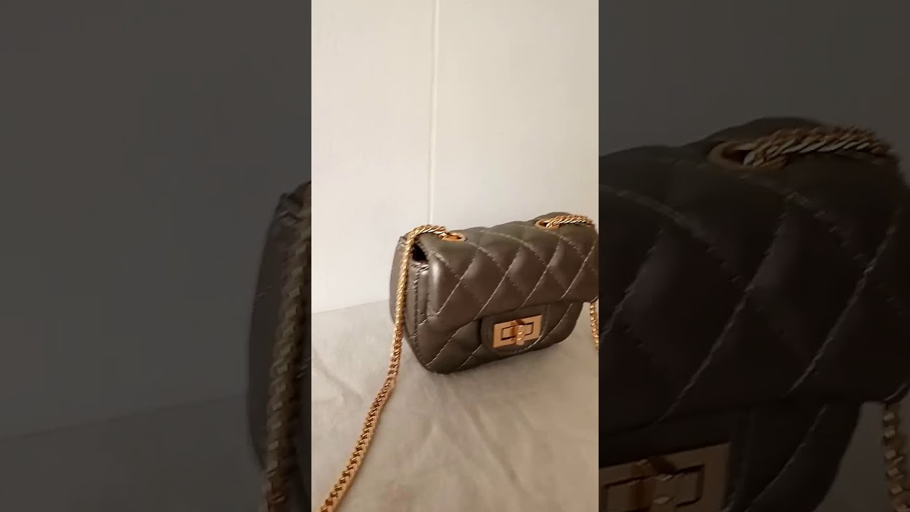 Tas Mini Channelly Import Bagus PU leather - Bronze - YouTube 0aa6a8336f