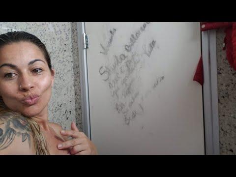 BANHO! recadinho no banheiro 🤪🤪 #caminhoneira #sheila #bellaver #scania #rosa