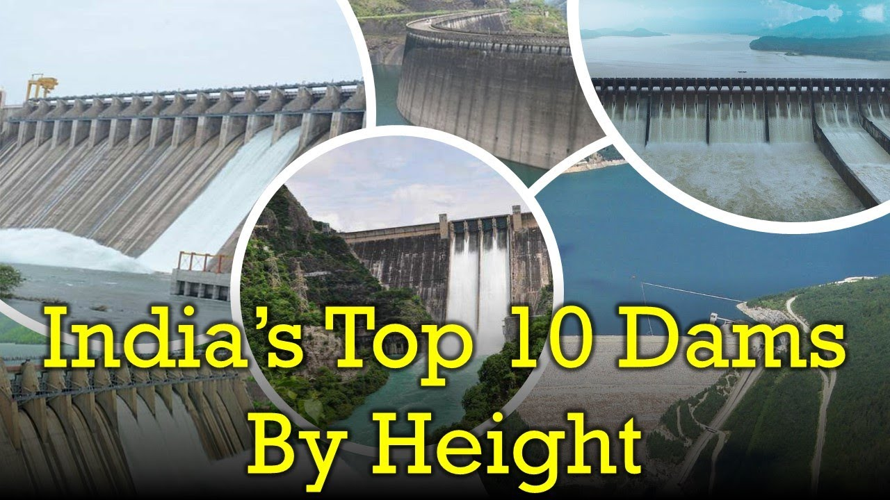 India's Top 10 Biggest Dams by Height | Indian Postman