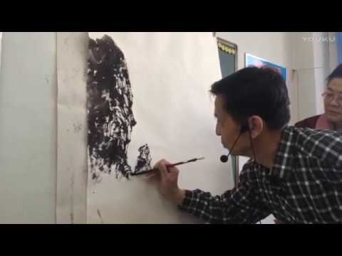 Chinese landscape painting in class