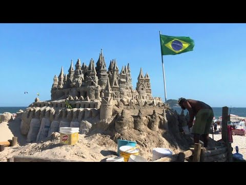 The man who lives in a sandcastle