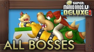New Super Mario Bros. U Deluxe - All Bosses (4 Players)