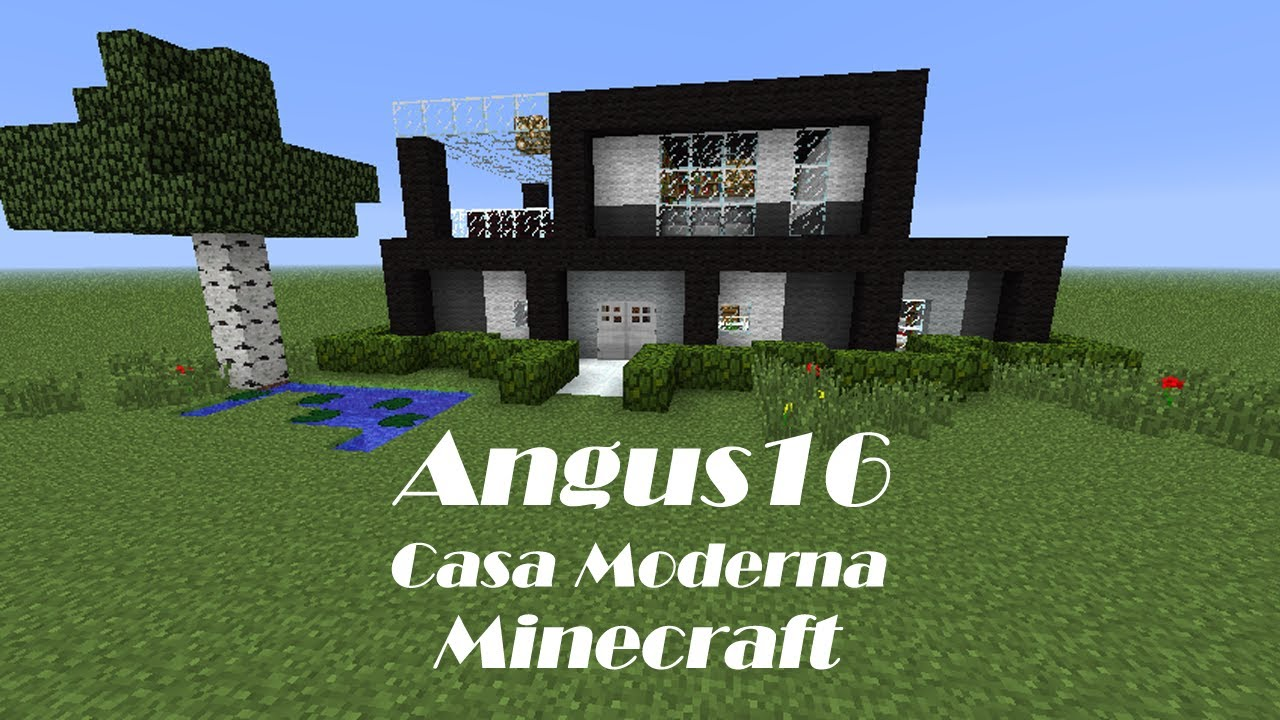 Minecraft construyendo casa moderna youtube for Casa moderna minecraft 0 12 1