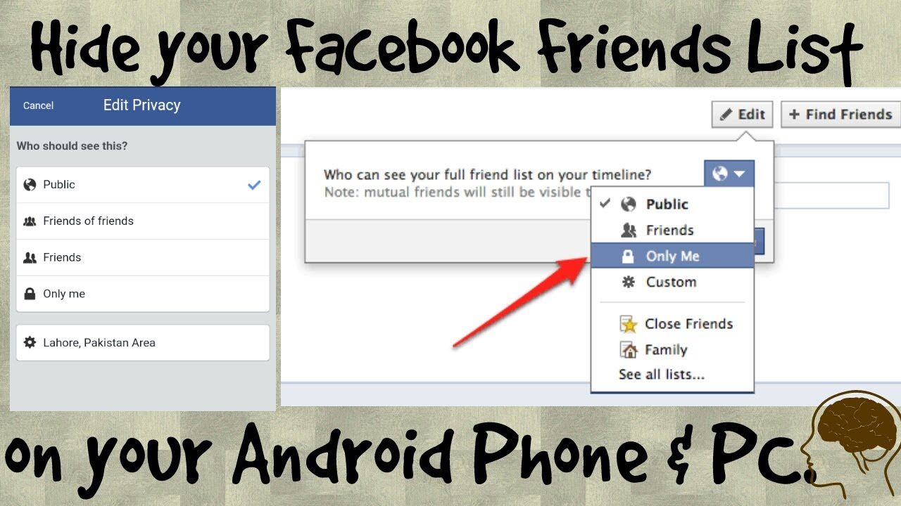 How To Hide Facebook Friends List On Andriod Mobile & Pc In Urdu 2017